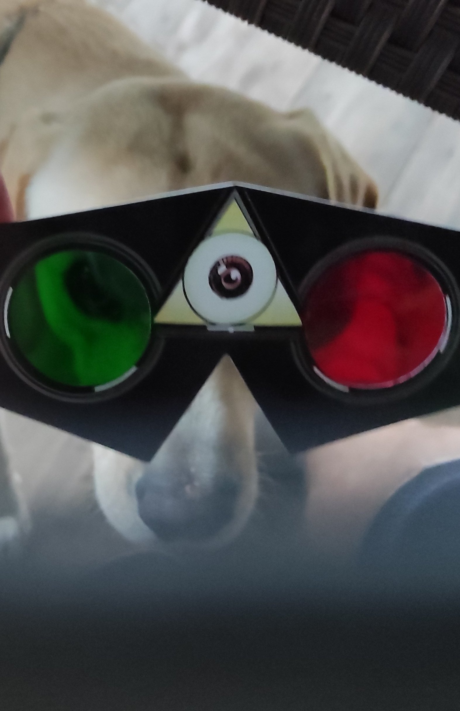 3D glasses are from book League of extraordinary genttleman: The Tempest by Alan Moore